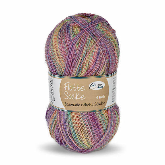 Rellana Flotte Socke Baumwolle-Merino 1550, 4ply, sock yarn with cotton, 100g - I Wool Knit
