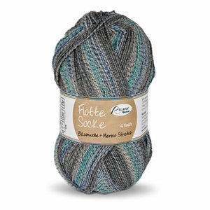 Rellana Flotte Socke Baumwolle-Merino 1551, 4ply, sock yarn with cotton, 100g - I Wool Knit