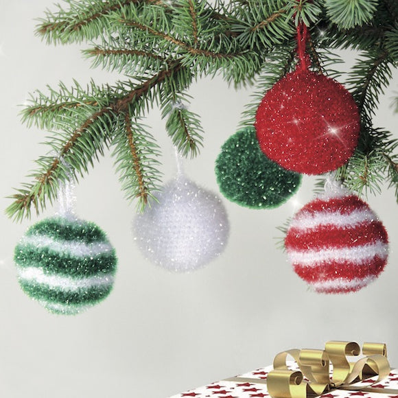 Christmas Baubles - Rellana Crochet Kit - I Wool Knit