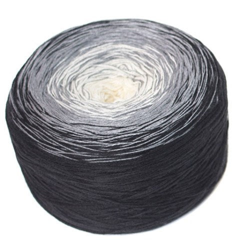 Regenbogen 2, grey, hand-wound multi-coloured lace yarn, 4ply, 200g - I Wool Knit - 1