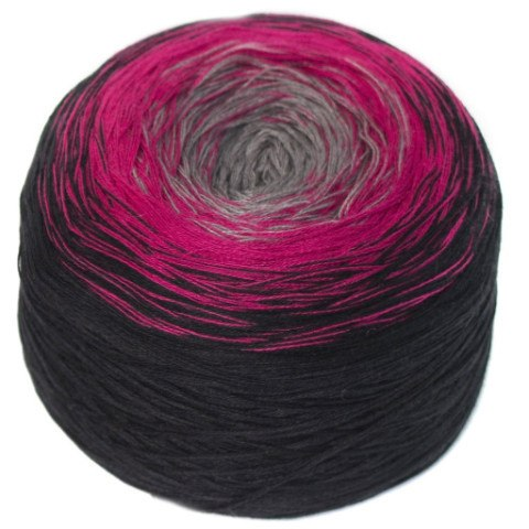 Regenbogen 3, red, hand-wound multi-coloured lace yarn, 4ply, 200g - I Wool Knit - 1