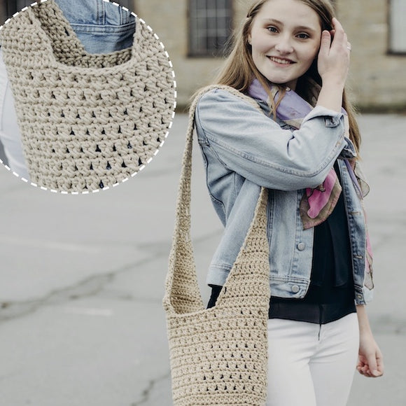Boho Bag in Rellana Macramé - Crochet Kit - I Wool Knit