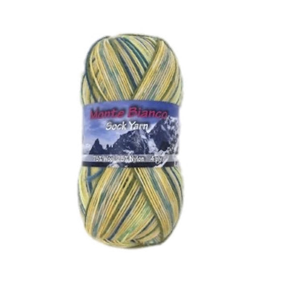 Rial Filati Monte Bianco 506, 4ply, sock yarn, 100g - I Wool Knit