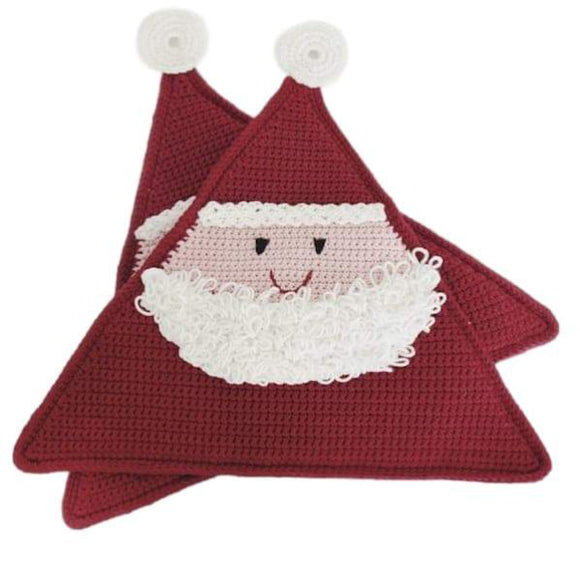 Crochet pattern pot holder Santa, Christmas, I Wool Knit