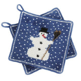 "Crochet Pattern: Potholder ""Snowman"" in Rellana Adina"