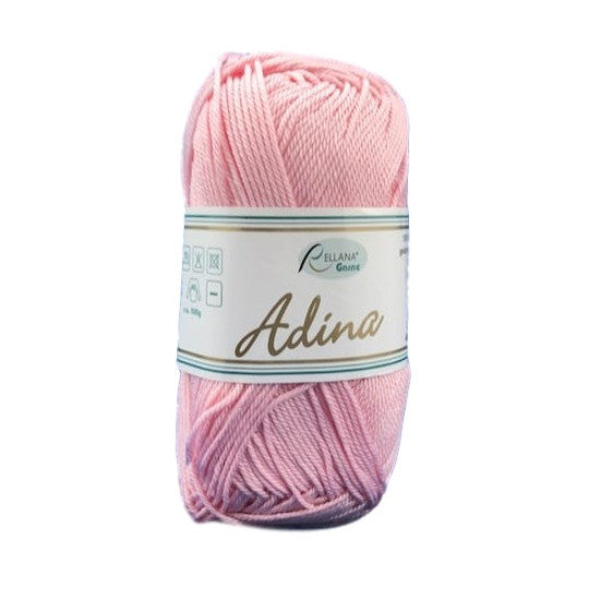 Rellana Adina 10, pink, 100% cotton, 4ply, 50g - I Wool Knit