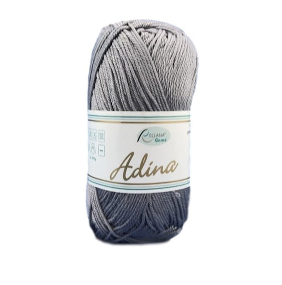 Rellana Adina 14, light grey, 100% cotton, 4ply, 50g - I Wool Knit