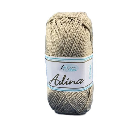 Rellana Adina 18, light brown, 100% cotton, 4ply, 50g - I Wool Knit