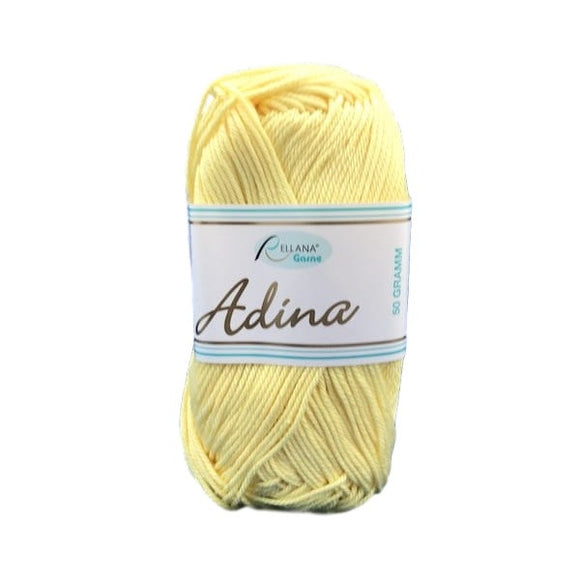 Rellana Adina 20, yellow, 100% cotton, 4ply, 50g - I Wool Knit