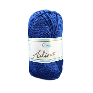 Rellana Adina 22, royal blue, 100% cotton, 4ply, 50g - I Wool Knit
