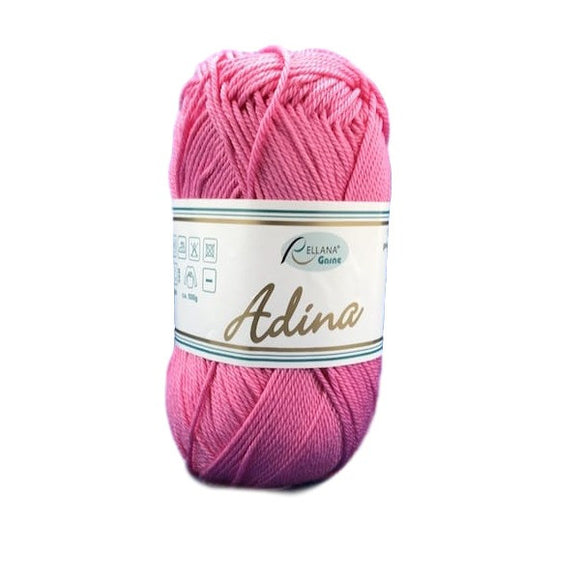 Rellana Adina 34, pink, 100% cotton, 4ply, 50g - I Wool Knit