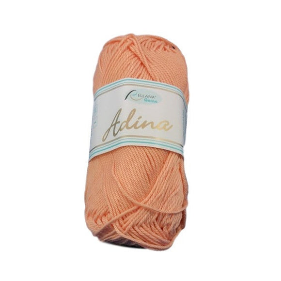 Rellana Adina 68, melon, 100% cotton, 4ply, 50g - I Wool Knit