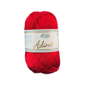 Rellana Adina 03, red, 100% cotton, 4ply, 50g - I Wool Knit