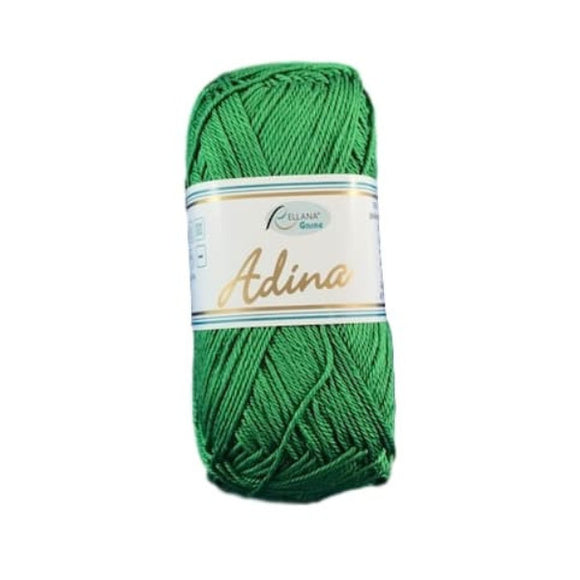 Rellana Adina 38, fir tree green, 100% cotton, 4ply, 50g - I Wool Knit