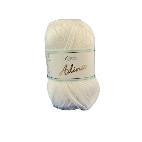 Rellana Adina 01, white, 100% cotton, 4ply - 6ply, 50g