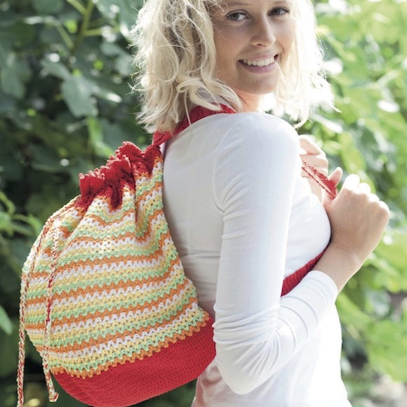 Backpack in Adina cotton - Crochet Kit - I Wool Knit