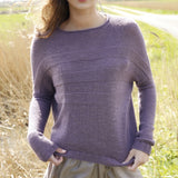 Sweater with Semi-Batwing Sleeves in ggh Lacy - Rebecca Knit Kit - I Wool Knit