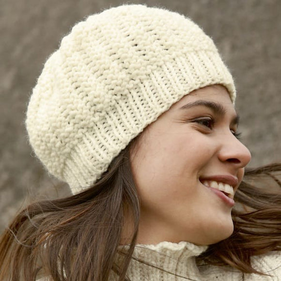 Ladies Woollen Beanie in ggh Sportlife - Rebecca Knit Kit - I Wool Knit
