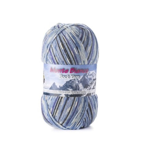 Rial Filati Monte Bianco 508, 4ply, sock yarn, 100g - I Wool Knit