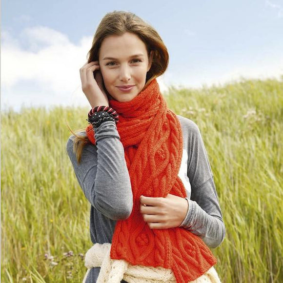 Cabled Scarf in ggh Sportlife - Rebecca Knit Kit - I Wool Knit