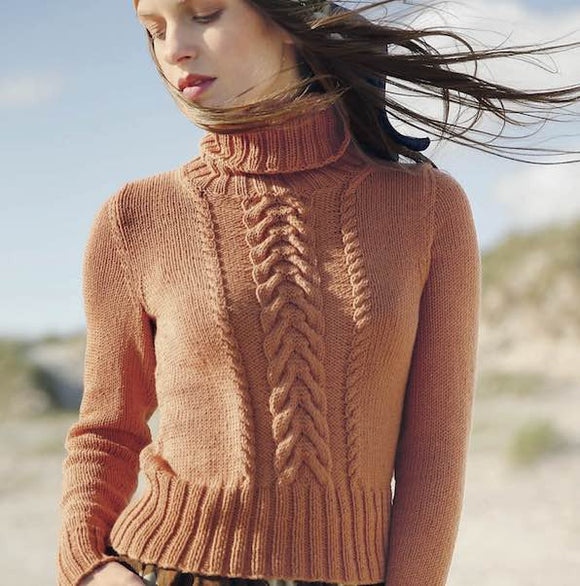 Cabled turtle neck sweater - I Wool Knit
