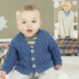 Sirdar Boys Cardigan & Sweater Pattern, birth - 7 years - I Wool Knit