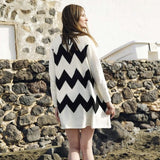 Coat with spike pattern in Volante - Rebecca Knit Kit, I Wool Knit
