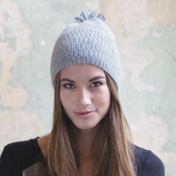 Possum Beanie in Zealana Cozi - Knit Kit - I Wool Knit