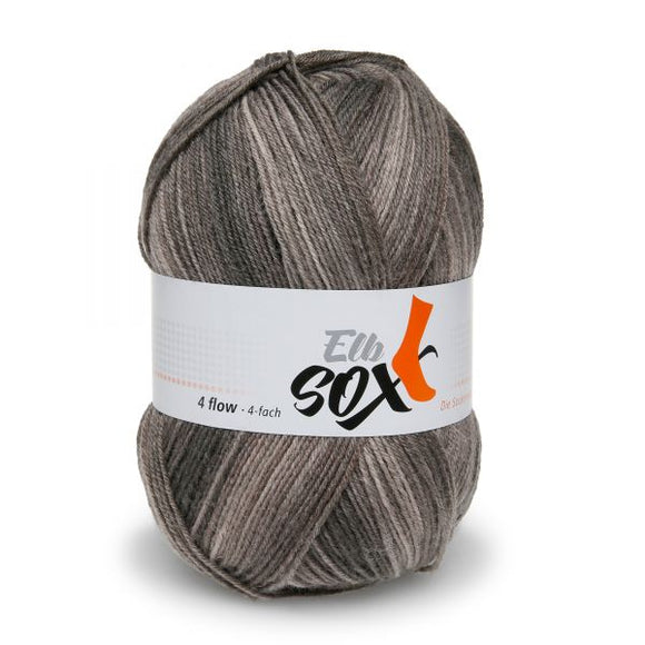 ggh Elbsox 4 flow color 002, brown dégradé, sock knitting yarn, 4ply, 100g - I Wool Knit