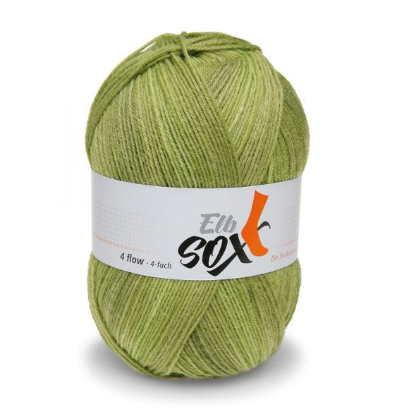 ggh Elbsox 4 flow color 003, green dégradé, sock knitting yarn, 4ply, 100g - I Wool Knit