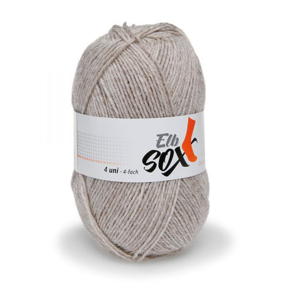 ggh Elbsox 4 uni 005/549, beige, sock knitting yarn, 50g, 4ply - I Wool Knit