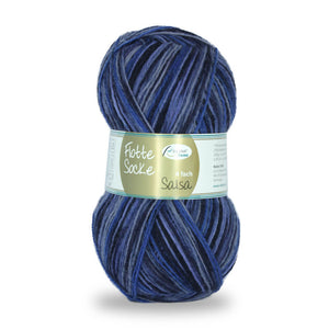 Rellana Flotte Socke Salsa 1281, shades of blue, 4ply sock yarn, 100g - I Wool Knit