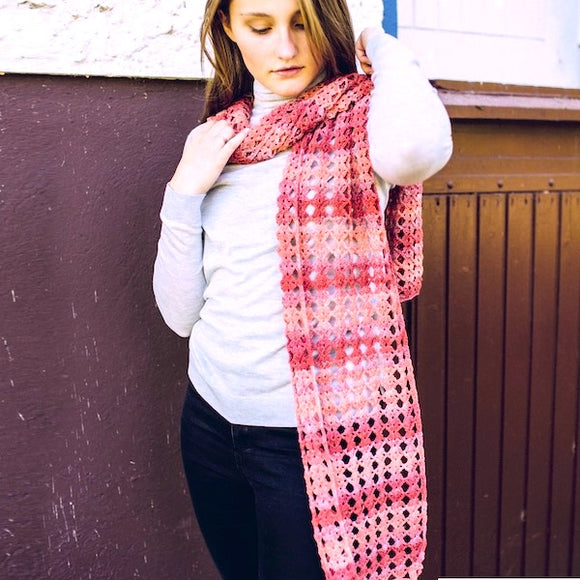 Crochet Scarf in Cashmere Merino - Crochet Kit
