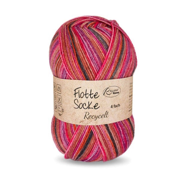 Rellana Flotte Socke Recycled 1580, 4ply sock yarn, 100g - I Wool Knit