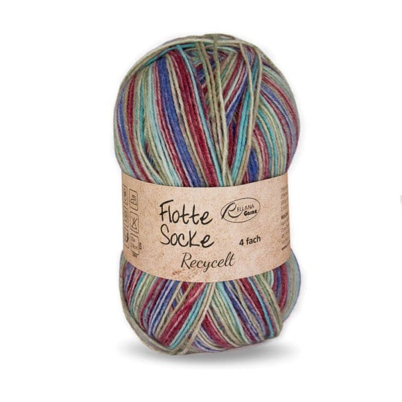 Rellana Flotte Socke Recycled 1583, 4ply sock yarn, 100g