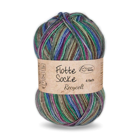Rellana Flotte Socke Recycled 1584, 4ply sock yarn, 100g
