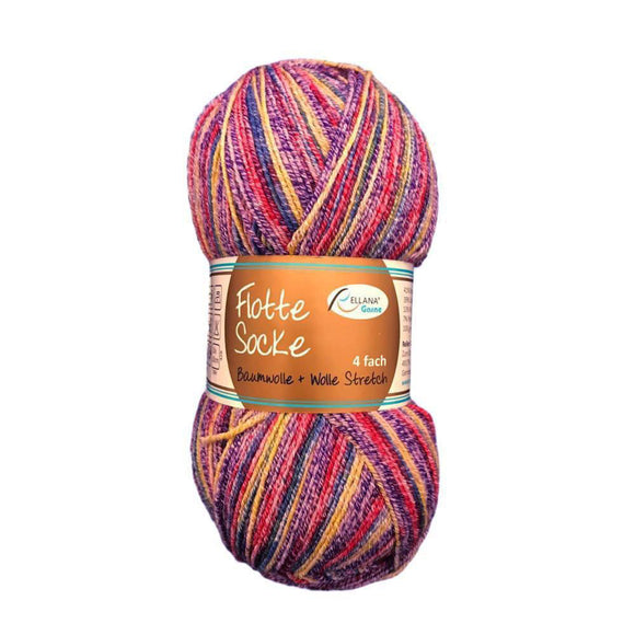 Rellana Flotte Socke sock knitting yarn with cotton - I Wool Knit