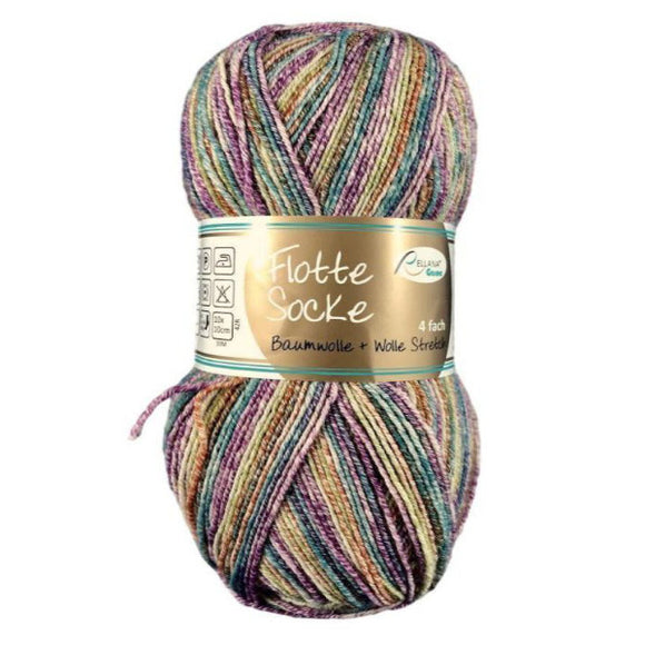 Rellana Flotte Socke Baumwolle 1010, 4ply, sock yarn with cotton, 100g