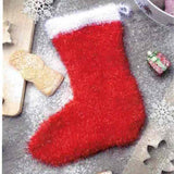 Christmas Stocking in Funny Scrub - Rellana Crochet Kit - I Wool Knit