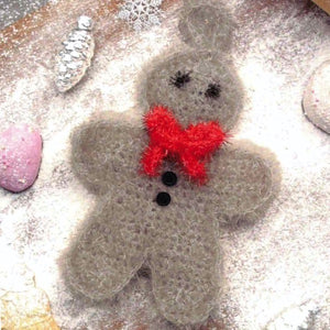 Gingerbread Man Scrubby - Rellana Crochet Kit - I Wool Knit