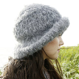 Rebecca Knit Kit: fluffy fur hat in ggh Lavella - I Wool Knit