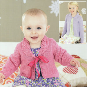 Sirdar Girls Cardigan & Bonnet Pattern, birth - 7 years - I Wool Knit
