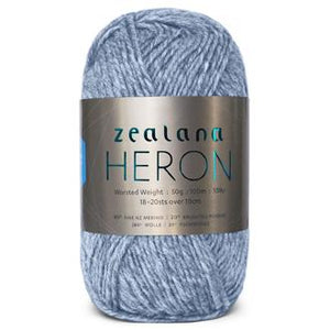 Zealana Heron Worsted 01, Cloud Blue, Possum-Merino, 10ply, 50g - I Wool Knit