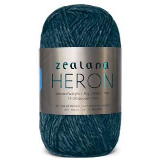 Zealana Heron Worsted 02, Bottle Green, Possum-Merino, 10ply, 50g - I Wool Knit