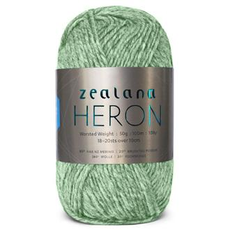 Zealana Heron Worsted 03, Lichen, 10ply, 50g - I Wool Knit