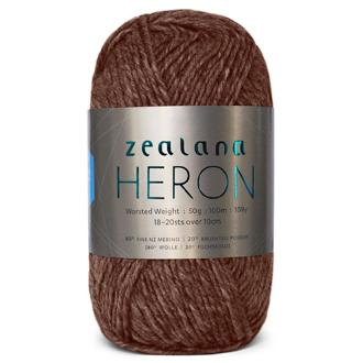 Zealana Heron Worsted 08, Raisin, Possum-Merino, 10ply, 50g - I Wool Knit