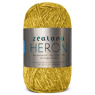Zealana Heron Worsted 12, Honey, Possum-Merino, 10ply, 50g - I Wool Knit