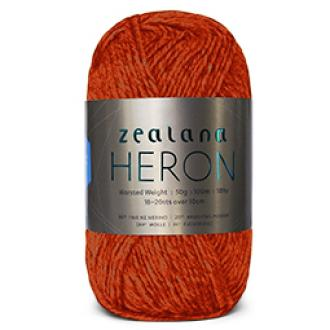 Zealana Heron Worsted 13, Firelight, Possum-Merino, 10ply, 50g - I Wool Knit
