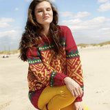 Jumper with Jacquard Pattern in ggh Sportlife - Rebecca Knit Kit - I Wool Knit
