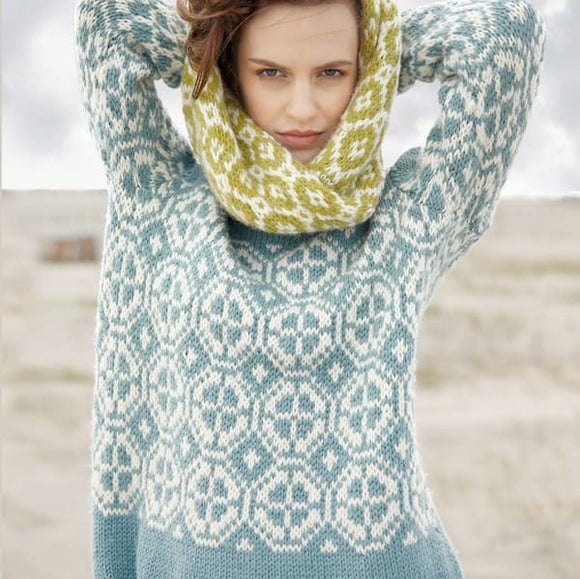 Jumper with Colour Work in ggh Sportlife - Rebecca Knit Kit - I Wool Knit